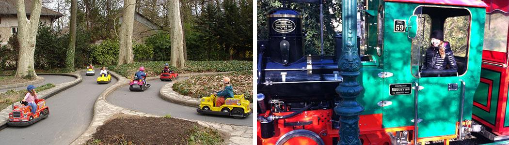 Les minis kart et le train du parc